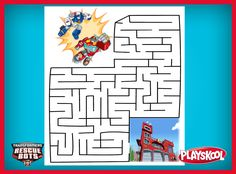 Print this out to have your kids be the heroes and help the Transformers Rescue Bots save the day! Playskool, transformers, toys
