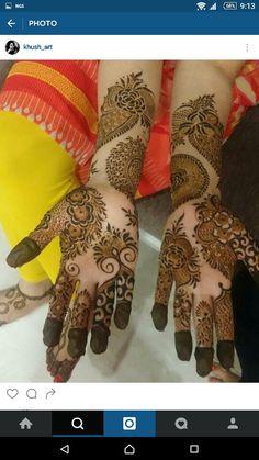 Mehndi design Palm Henna Designs, Hena Designs, Bridal Henna Designs, Henna Designs Easy, Beautiful Henna Designs, Best Mehndi Designs, Art Designs, Mehndi Art, Henna Art