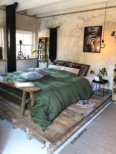Best Of Bedroom Furniture Design Ideas Diy Projects. Home Decor 50 Creative Recycled Diy Projects Pallet Beds Industrial Bedroom Design, Loft Interior Design, Diy Industrial Interior, Design Loft, Industrial Living, Diy Interior, Interior Modern, Vintage Industrial, Interior Styling