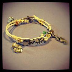 Shrink plastic bracelet + charms