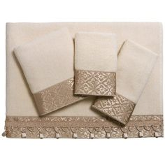 Avanti Linens Monaco Towel Set - 4-Piece in Ivory