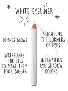 If you only want one thing that'll upgrade your makeup, invest in white eyeliner. Beauty & Personal Care - Makeup : Eyes - Eyeshadow - Makeup - http://amzn.to/2jRlRZU