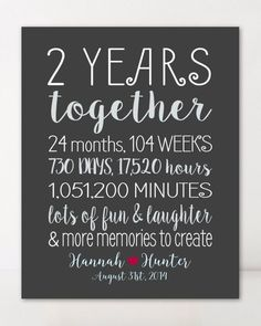 2 Year Anniversary Gifts for Boyfriend Gift for Him Personalized Gift for Girlfriend Custom Gift for Couple Wall Art Wedding Anniversary. 3 Year Wedding Anniversary Gift Ideas For Him