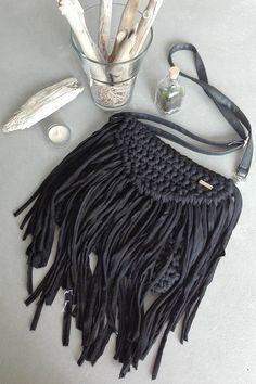 wabi sabi, torebka, bag, sznurek, recykling Wabi Sabi, Tassel Necklace, Tassels, Jewelry, Fashion, Moda, Jewlery, Jewerly, Fashion Styles