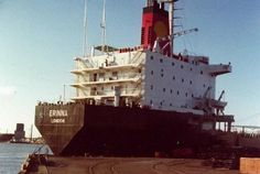 MV Erinna(second of her name) built in Canada in 70s about 30,000 tons DWT Sulzer main engine. Another Shell Tankers (UK), believe it was subsequently transferred to Shell(Rotterdam).