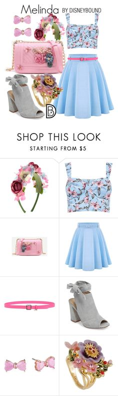 """Melinda"" by leslieakay ❤ liked on Polyvore featuring Monsoon, WithChic, Dsquared2, Kristin Cavallari, Betsey Johnson, Les Néréides, disney, disneybound and disneycharacter"