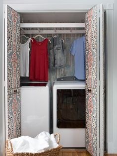 Laundry Room Closet Makeover | Interior Design Styles and Color Schemes for Home Decorating from HGTV >> http://www.hgtv.com/design/decorating/design-101/turn-a-closet-into-a-laundry-room-pictures?soc=pinterest
