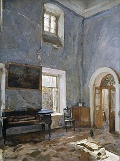 """Valentin Serov, (1865-1911). """"The Hall of the Old House"""",1904. Yol and Art"""