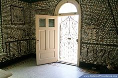 Saint Anne Shell Chapel open door, Saint Mary-of-the-Woods, Ind.