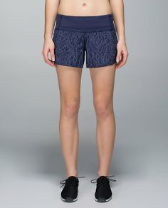 Run Times Short *4-way Stretch - pretty palm cadet greyvy/cadet blue