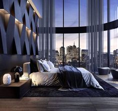 Contemporary bedroom by Stab Studio - Architecture and Home Decor - Bedroom - Bathroom - Kitchen And Living Room Interior Design Decorating Ideas - Stylish Bedroom, Modern Bedroom, Apartment Interior Design, Decor Interior Design, City View Apartment, Apartment Goals, Interior Livingroom, Room Interior, Luxury Home Decor