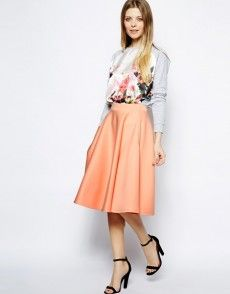 Discover midi skirts with ASOS. Shop from a range of pleated, A-line skirts, calf length skirts and other midi skirt styles. Shop today at ASOS. Modest Clothing, Modest Dresses, Modest Outfits, Modest Fashion, Maxi Dresses, Skirt Fashion, Party Dresses, Midi Skirt With Pockets, Full Midi Skirt
