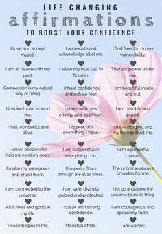 Self Care affirmations for happiness and confidence!! #happy #confident #affirmations