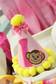 monkey birthday hat