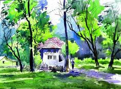Basic Drawing, Landscape Paintings, Watercolour, Ship, Drawings, Color, Art, Pen And Wash, Art Background
