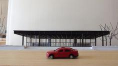 NEUE NATIONAL GALERIEby Mies van der Rohe, 1:250 scale model