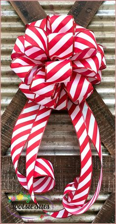 Christmas Candy Cane Bow Lantern Bow Package Bow Red White | Etsy Christmas Lanterns, Christmas Bows, Christmas Decorations, Christmas Packages, Christmas Staircase, Christmas Stuff, Christmas Trees, Xmas, Gift Bows