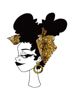 Illustration black girl she Queen black fashion fashion illustration black women black art Goddess black woman queer art brown and beautiful summer looks poc love every woman emerykhahn queen