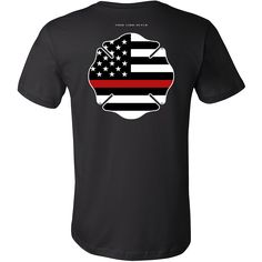 """Maltese Cross Firefighter Thin Red Line Shirt  Features a Thin Red Line Maltese Cross.  * Official Thin Line Style Apparel, printed in The USA * 100% combed, ring-spun cotton unisex retail fit tee * Soft, shoulder to shoulder taping, side seams, ultimate comfort * Machine wash cold with like colors, tumble dry low and remove promptly. Do not bleach.  Size Chest Body Length  S 34-37"""" 28""""  M 38-41"""" 29""""  L 42-45"""" 30""""  XL 46-49"""" 31""""  2XL 50-53"""" 32""""  3XL 54-57"""" 33"""""""