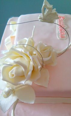 Rosas em pasta de açucar