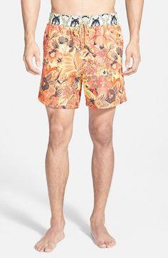 Men's Maaji 'Apricot Grove' Mixed Print Swim Trunks