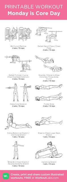 Core Workout | Posted by: CustomWeightLossProgram.com