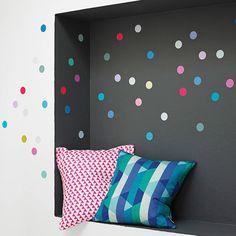 multicoloured polka dot wall sticker set by oakdene designs | notonthehighstreet.com