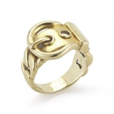 Hermes 18KY Gold Buckle Ring
