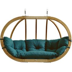 Amazonas Globo Royal Hanging Chair - Green featuring polyvore, home, outdoors, patio furniture, chair, green, green patio furniture, garden patio furniture, weatherproof outdoor furniture, outdoors patio furniture and outdoor patio furniture