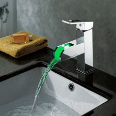 I think the kids would wash their hands if the water looked green!