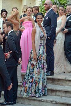 Francesca Lodo, actriz y modelo italiana, a su llegada a la iglesia de San Mateo en Lecce