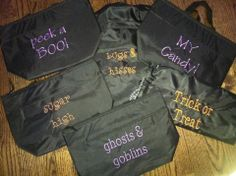 Thermal Totes, Cinch Sacs & Large Utility Totes make great trick or treat bags for Halloween. And the Large Utility Tote can be used to store your Halloween decorations all year long!