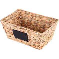 Mainstays Storage Basket, Natural Product in Inches (L x W x H): 12.0 x 8.09 x 5.11 $5.97 walmart.com