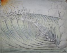 Wave(colored pencil)