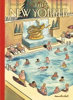 "Hall presents his cover of this week's issue, which he calls ""a twist on the usual winter theme in New York."""