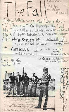 """""""isitanart:  Flyer for show from December 1979 where they played with X and The Germs.   """""""