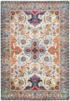 Rugs USA Ivory Bosphorus Florid Mardi Gras rug - Traditional Rectangle x Traditional Area Rugs, Traditional Decor, Diy Carpet, Rugs On Carpet, Carpet Ideas, Shag Carpet, Carpet Runner, Rug Runner, Mardi Gras