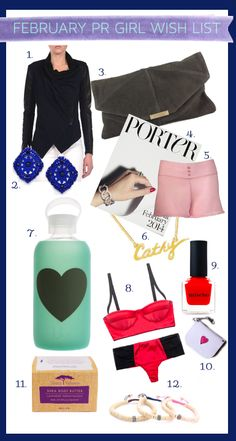 Find out what PR Girls Want for February via @PR Couture