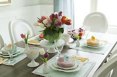 Spring Easter Table Decorations Spring is definitely one of my favorites seasons.  Mostly because the world becomes alive again with color!  I love all the spring flowers that bloom, and trees blossoming with tiny flower buds.  Spring pastel colors are everywhere.  So for my Easter table this year I wanted  Read More