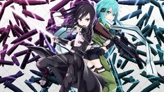 Gun Gale Online Kirito Sinon Anime Sword Art Online 2 Photo 1366×768