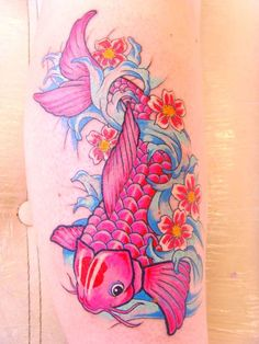 Pink Koi tattoo