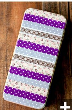 Oud iPhone hoesje versieren met tape