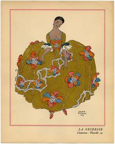 La Negresse, from Casanova: décors et costumes par Georges Barbier
