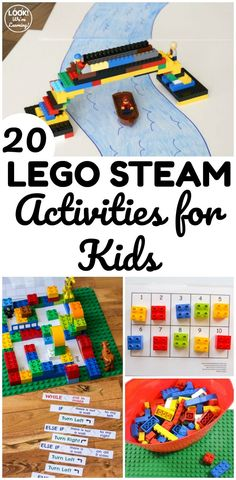 Make STEM education extra fun with these LEGO STEM activities for kids! Perfect for including math, science, and engineering together! Space Activities For Kids, Lego Activities, Steam Activities, Las Vegas Hotels, Lego Math, Lego Challenge, Lego For Kids, Kids Fun, Lego Projects