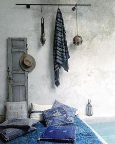 Indigo blue hues via The Secret Souk