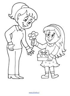 Mothers Day Coloring Pages, Cute Coloring Pages, Coloring Pages To Print, Coloring Books, Pancake Day Poster, Teachers Day Drawing, Toddler Sunday School, Funny Emoji Faces, 8 Mars