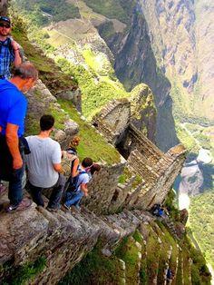 Vertical stairs Peru
