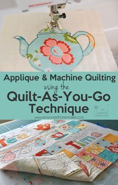 The quilt as you go technique (QAYG) simplifies quilting for beginners because it is an easy way to join quilted pieces by machine. Instead of handling bulky quilts, you will learn to quilt your project as you piece it. Quilt-as-you-go is ideal for machin Quilting For Beginners, Quilting Tutorials, Quilting Projects, Sewing Projects, Quilting Tips, Beginner Quilting, Baby Quilt Tutorials, Sewing Hacks, Easy Quilts