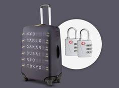 Housse de valise connectée : Personnalisez, protégez, sécurisez et assurez votre bagage. #NoelFrenchTech #GourmetOdyssey