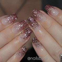 Top Awesome Coffin Nails Design 2019 You Must Try Awesome coffin nails are the hottest nails now. We collected of the most popular coffin nails. So, you don't have to spend too much energy. It's easy to find your favorite coffin nail design. Hot Nails, Pink Nails, Hair And Nails, Rose Gold Glitter Nails, Glitter Nail Art, Nails With Glitter Tips, Pink Sparkle Nails, Sparkle Acrylic Nails, Acrylic Nail Designs Glitter